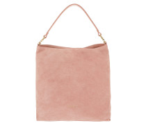 Arlettis Suede Hobo Bag Rose