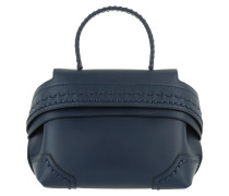 Wave Shoulder Bag Mini Navy Umhängetasche