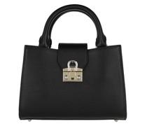 Tote Mina Satchel Bag Black Coloured