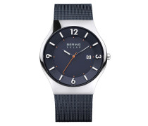 Uhr Watch Solar Men Blue