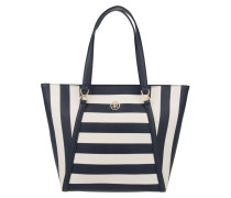 Fashion Novelty Tote Stripe Midnight/Turtledove/Scooter Red blau