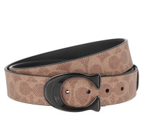 Gürtel Men Cutable Belt Leather Khaki/Black