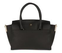 Tasche - Leather Tote Black