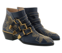 Susanna Ankle Boots Cosmic Blue+Gold Schuhe
