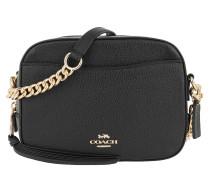 Umhängetasche Polished Pebble Leather Camera Bag Li/Black