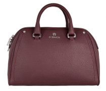Ava Small Bowling Crossbody Burgundy