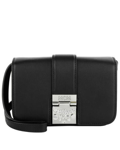 mcm damen mcm tasche karoline shoulder bag mini black in schwarz umh ngetasche f r damen. Black Bedroom Furniture Sets. Home Design Ideas