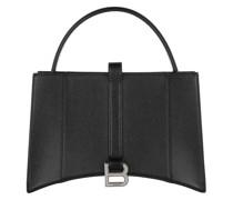 Hobo Bag Hourglass Tote Leather Black