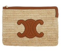 Clutch Signature Small Pouch Natural Tan