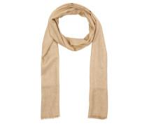 Lurex Scarf Mid Beige Schal gold