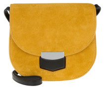 Tasche - Small Trotteur Crossbody Suede Amber - in gelb
