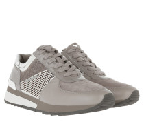 Allie Metallic Trainer Lasered Pale Grey/Silver Sneakers