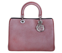 Tasche - Lady Dior Medium Metallized Taurillon Brick
