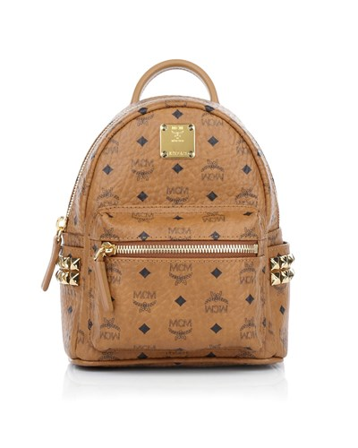 mcm damen mcm tasche stark backpack x mini cognac in cognac aus kunstleder umh ngetasche. Black Bedroom Furniture Sets. Home Design Ideas