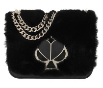 Umhängetasche Nicola Faux Fur Twistlock Small Chain Shoulder Bag Black
