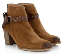 Boots & Booties - Mid Heel Bootie Cognac
