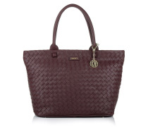Fashion Woven Tote Beet Red