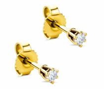 Ohrringe 9KT 0.12ct Diamond Earring