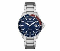 Uhren Men Three-Hand Stainless Steel Watch