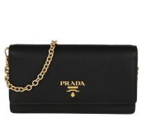 Umhängetasche Wallet On Chain Saffiano Leather Black schwarz