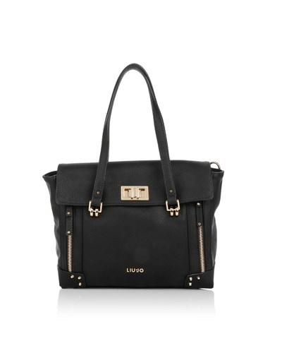 liu jo damen liu jo tasche orione shopping bag m nero in schwarz. Black Bedroom Furniture Sets. Home Design Ideas