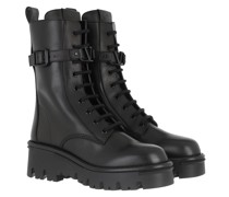 Boots High Combat Leather Black