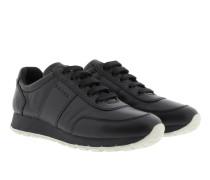 Sneakers - Vitello Plume Leather Sneaker Nero