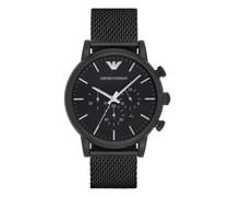 Uhren Chronograph Stainless Steel Mesh Watch