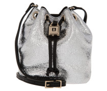 Shiny Mini Bucket Bag Rock Silver