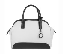 Woman PVC/Plastic Top Handle Bag Bianco-White