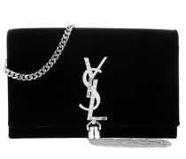 YSL Monogramme SL Kate Satchel Bag Noir Umhängetasche