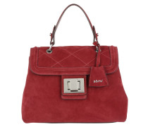 Kaleido Quilted Satchel Bag Ruby rot