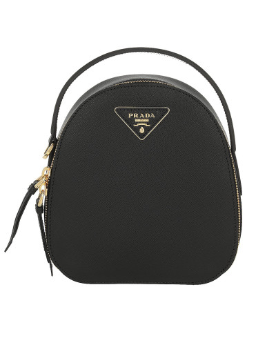 Rucksack Backpack Saffiano Leather Black