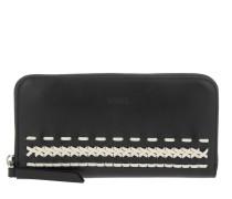 Zip-Around Wallet Black/White Portemonnaie