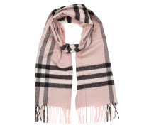 Giant Check Cashmere Scarf Ash Rose Schal