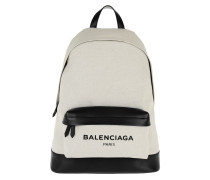 Navy Backpack Bianco/Nero Rucksack beige
