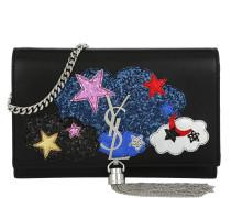 YSL Monogramme Chain Wallet Clouds Stars Patch Black/Multicolor schwarz