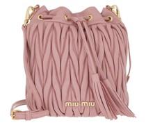 Beuteltasche Matelasse Mini Bucket Bag Rosa