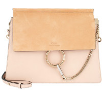 Faye Tote Bag Suede Flap Cement Pink Umhängetasche
