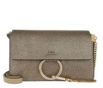 Faye Small Shoulder Bag Metallic Goatskin Umhängetasche