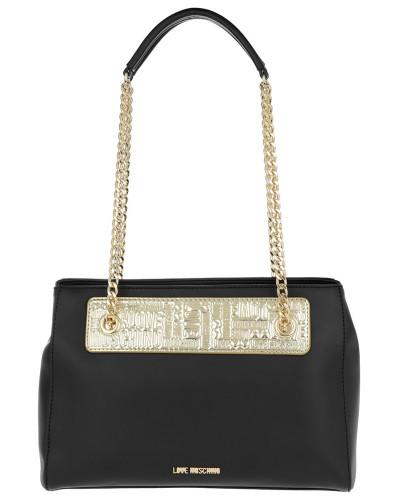 Ebay Verkauf Online Einkaufen Moschino Damen Borsa Calf Pu Double Chain Nero+Tpu Shoulder Bag Oro Tasche Billig Verkauf Limitierter Auflage Shop-Angebot Günstiger Preis p9ZocRZj
