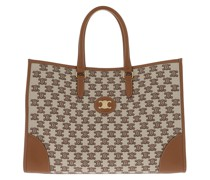 Tote Horizontal Embroidered Triomphe Cabas Bag Brown