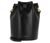 Beuteltasche Talitha Medium Bucket Bag Smooth Leather Black