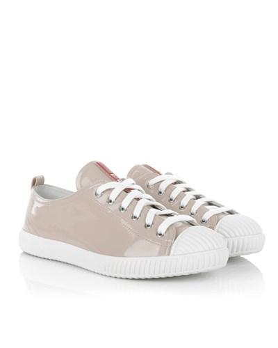 prada damen prada sneakers calzature donna vernice soft cipria in rosa wei sneakers f r. Black Bedroom Furniture Sets. Home Design Ideas