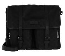 Signature Satchel Bag Nylon Black