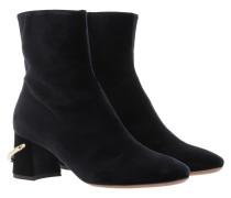 Boots Ankle Boot Zip Velvet Dark Blue