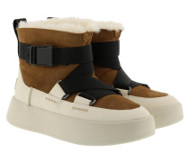 Boots W Classic Boom Buckle Chestnut