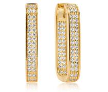 Ohrringe Matera Grande Earrings White Zirconia 18K Gold Plated