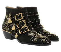 Susanna Suede Studs Boots Charcoal Black Schuhe