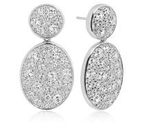 Ohrringe Novara Due Grande Earrings White Zirconia 925 Sterling Silver